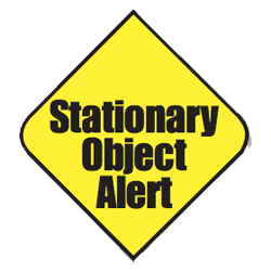 Stationary object alert